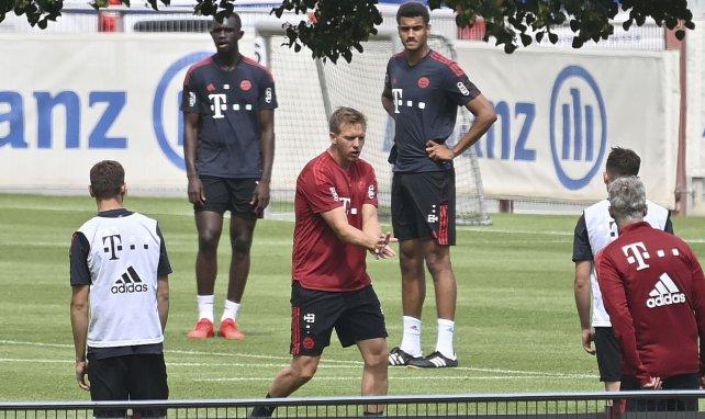 Julian Nagelsmann à l'entraînement avec le Bayern Munich