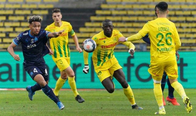 Boubacar Kamara lors de Nantes-OM à la Beaujoire