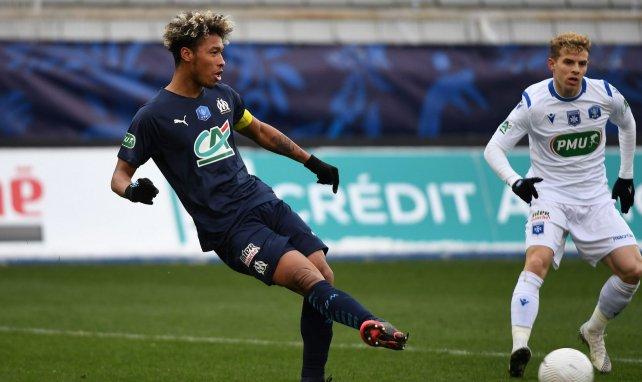 Boubacar Kamara lors du match de Coupe de France à Auxerre