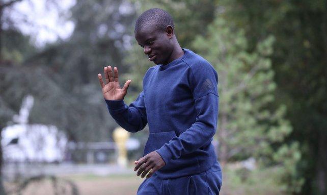 N'Golo Kanté à son arrivée à Clairefontaine