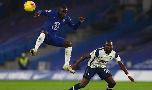 N'Golo Kanté et Tanguy Ndombele à Stamford Bridge