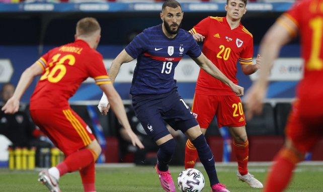 Karim Benzema sous le maillot des Bleus.