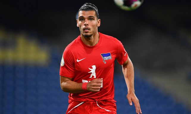 Karim Rekik en Coupe d'Allemagne avec le Hertha Berlin