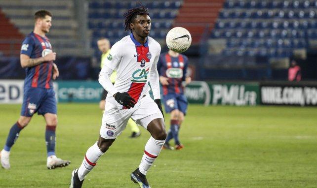 Moïse Kean buteur avec le PSG face à Caen
