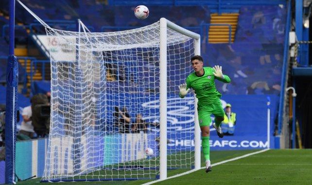 Kepa Arrizabalaga lors du choc face à Liverpool