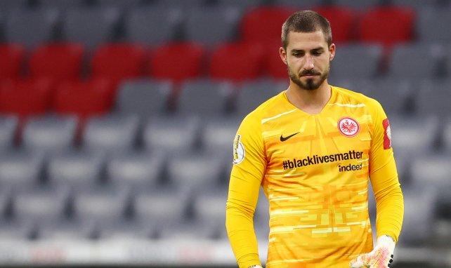 Kevin Trapp dans les buts de l'Eintracht Francfort