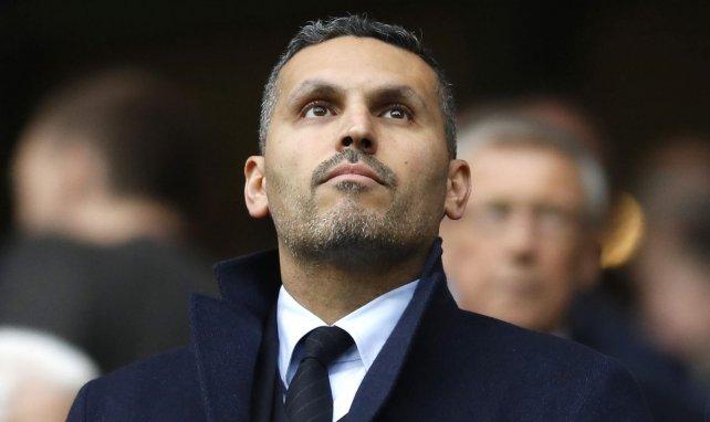 Khaldoon Al Mubarak lors d'un match entre City et Leicester