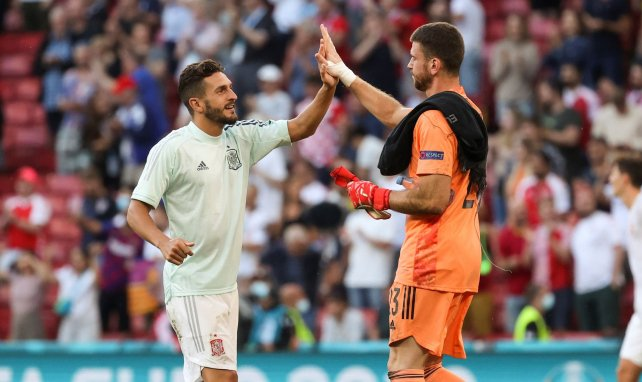 Koke et Unai Simon lors de l'Euro 2020 avec l'Espagne