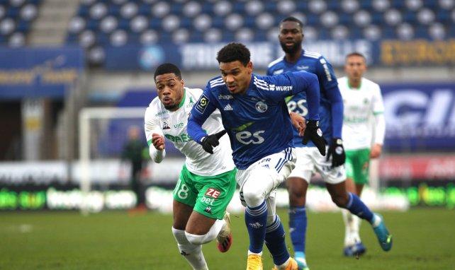 Kenny Lala lors de RCSA-AS Saint-Etienne