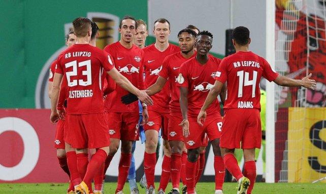 La joie des joueurs du RB Leipzig