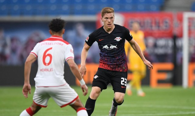 Marcel Halstenberg du RB Leipzig face au Fortuna Düsseldorf