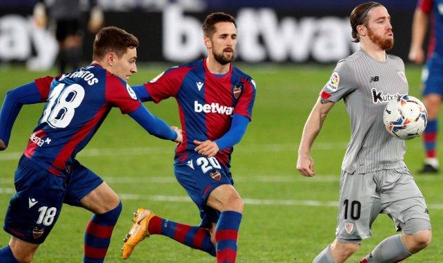 Muniain, Miramón et De Frutos lors de Levante-Athletic