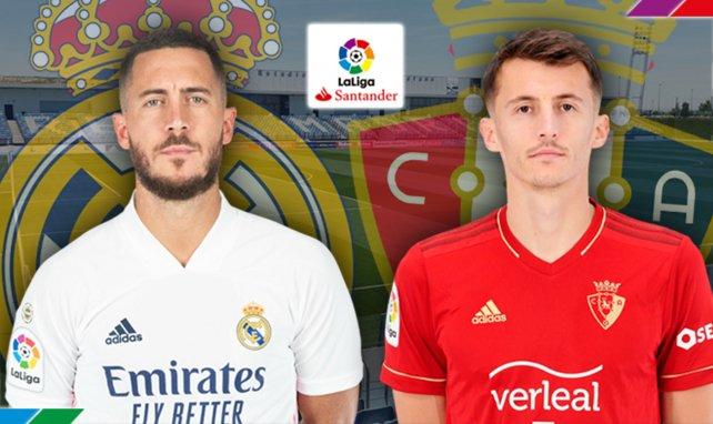 Eden Hazard (Real Madrid) et Budimir (CA Osasuna)