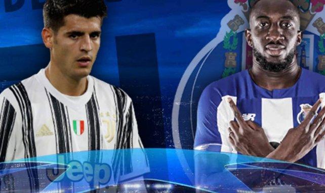 Alvaro Morata (Juventus) et Moussa Marega (FC Porto)