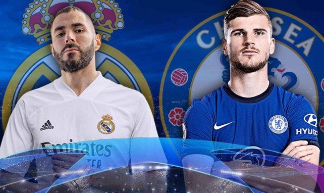 Karim Benzema (Real Madrid) et Timo Werner (Chelsea)