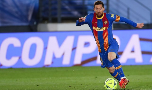Lionel Messi pendant le Clasico face au Real Madrid