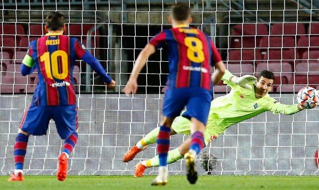 Lionel Messi buteur sur penalty