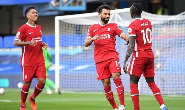 Firmino, Salah et Mané fêtent un but ensemble en Premier League
