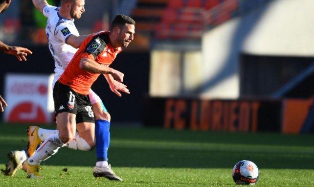 Quentin Boisgard vainqueur avec Lorient face au Stade de Reims