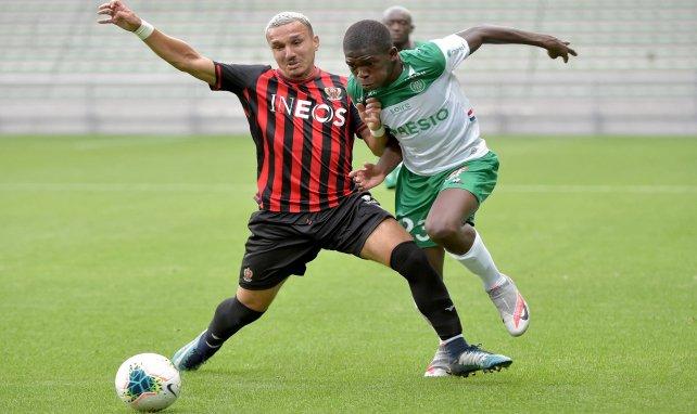 Lucas Gourna-Douath (à droite) en préparation face à l'OGC Nice