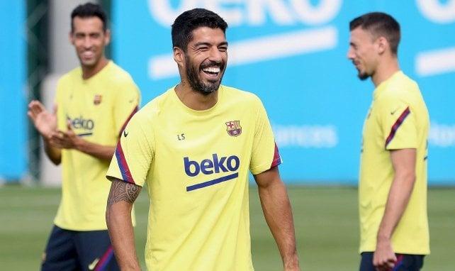 Luis Suarez à l'entraînement avec le FC Barcelone