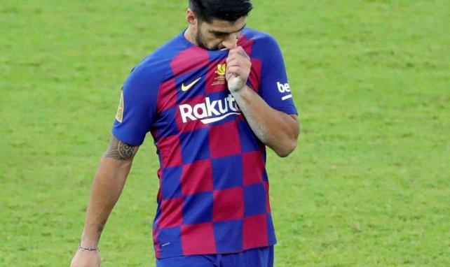 Vidéo : Luis Suarez quitte le centre d'entraînement du Barça en larmes
