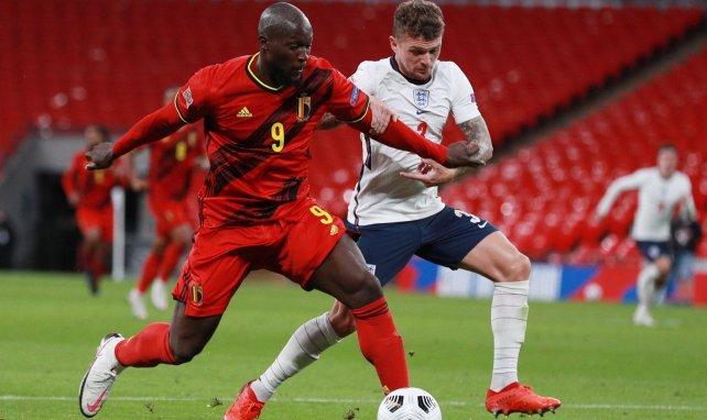 Romelu Lukaku face à l'Angleterre