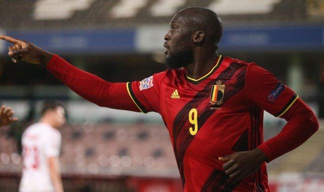 Romelu Lukaku sous le maillot de la Belgique