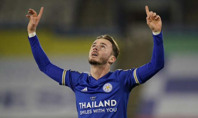 James Maddison célèbre l'ouverture du score face à Southampton