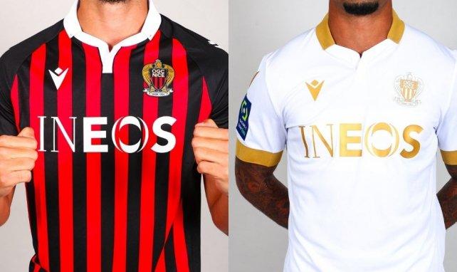 Macron dévoile les quatre nouveaux maillots de l'OGC Nice