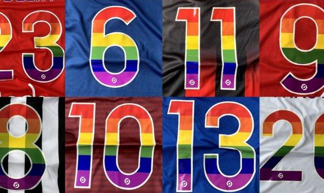 Des flocages arc-en-ciel en Ligue 1 et Ligue 2 pour lutter contre l'homophobie