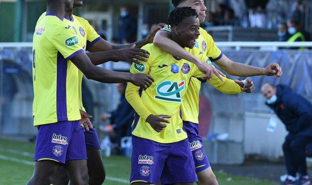 Mamady Bangré célèbre son premier but en pro avec le TFC