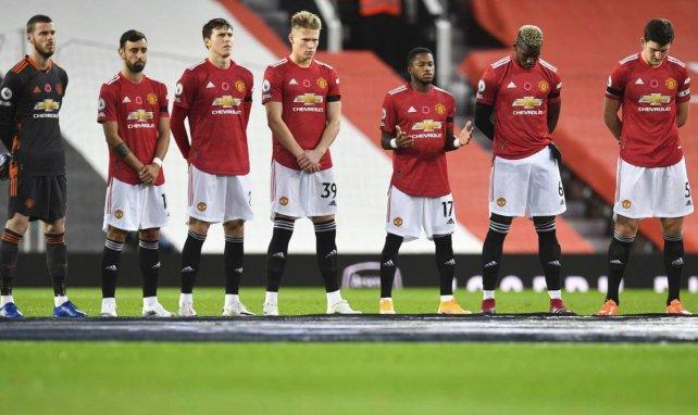 Manchester United juste avant le début du match face à Arsenal