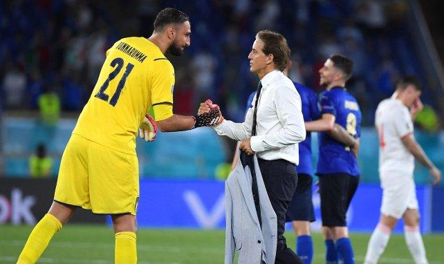 Roberto Mancini victorieux avec l'Italie