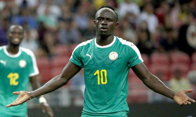 Sadio Mané sous les couleurs du Sénégal.