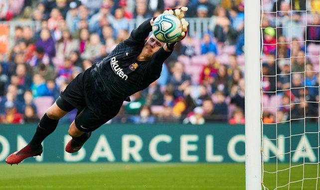 Marc-André ter Stegen en action avec le Barça