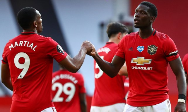 MU-Bournemouth : Paul Pogba et Anthony Martial alignés d'entrée