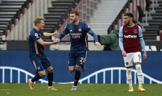 Martin Odegaard lors de West Ham-Arsenal