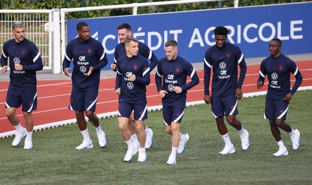 Lucas et Théo Hernandez pour leur premier entrainement avec les Bleus