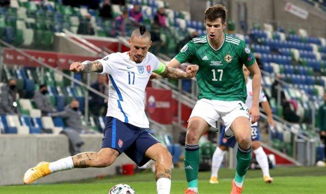 Marek Hamsik (Slovaquie) contre l'Irlande du Nord