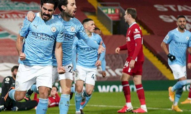 Ilkay Gündogan célèbre son premier but contre Liverpool