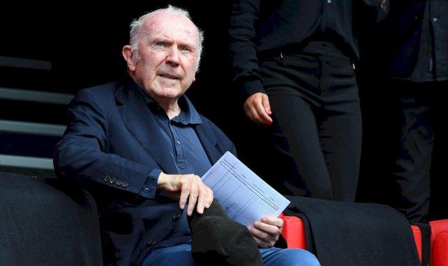 François Pinault le propriétaire du Stade Rennais dans les tribunes du Roazhon Park