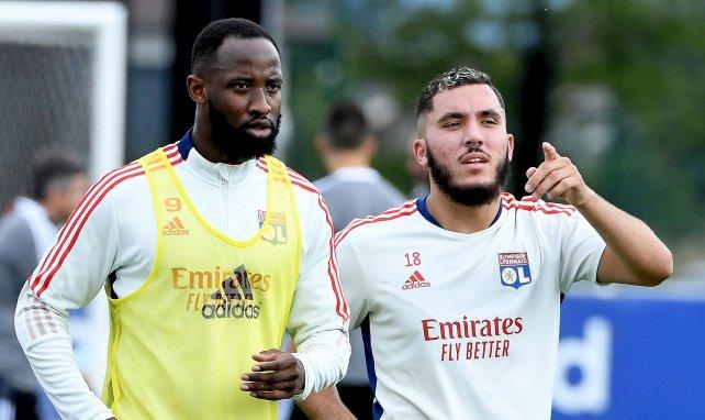 Moussa Dembélé et Rayan Cherki avec l'OL