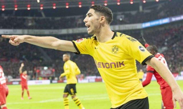Achraf Hakimi avec le Borussia Dortmund cette saison
