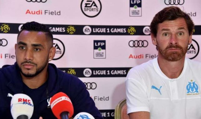 André Villas-Boas et Dimitri Payet, à Washington, lors des EA Ligue 1 Games