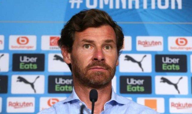 André Villas-Boas lors d'une conférence de presse de l'OM cette saison