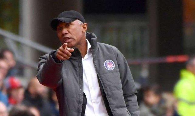 Antoine Kombouaré lors de la rencontre entre Rennes et Toulouse