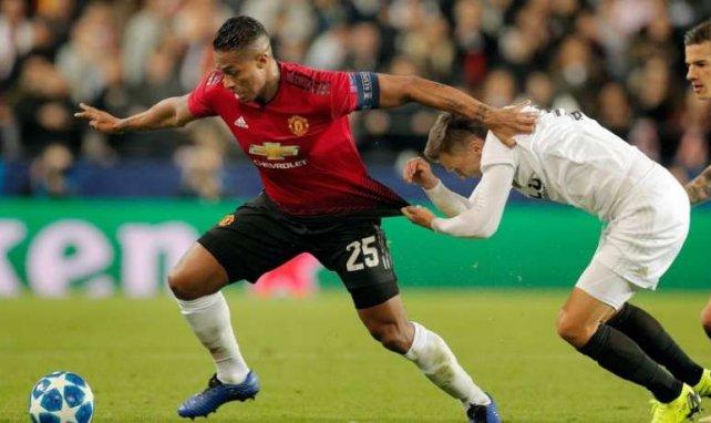 Antonio Valencia sous les couleurs de Manchester United en Ligue des Champions en décembre 2018