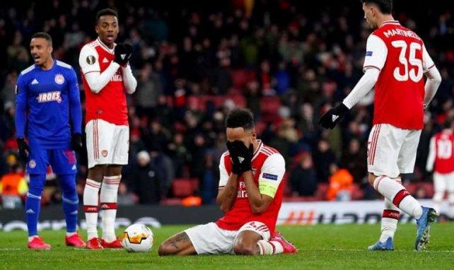 Aubameyang lors d'Arsenal-Olympiacos