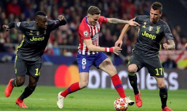 Blaise Matuidi et Mario Mandzukic lors du match de Ligue des Champions face à l'Atlético de Madrid